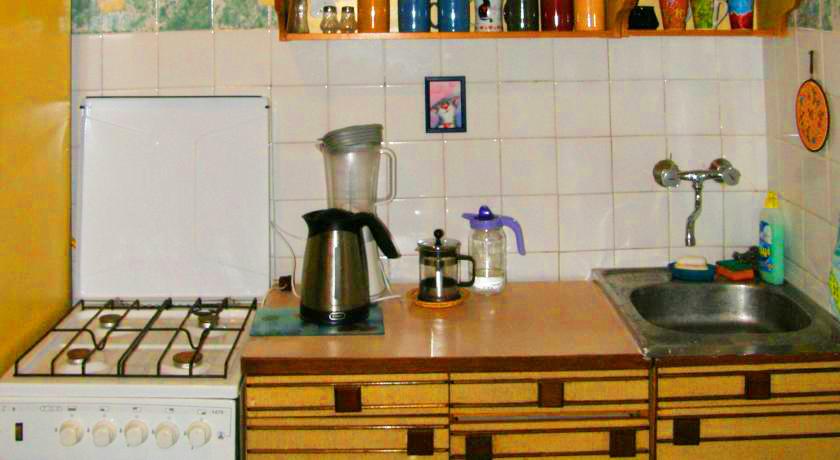 cats house hostel kitchenХостел Кошкин дом