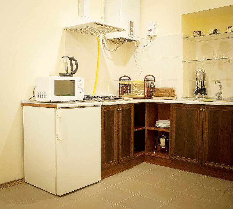hostel europe apartment 1floor kitchenХостел Европа