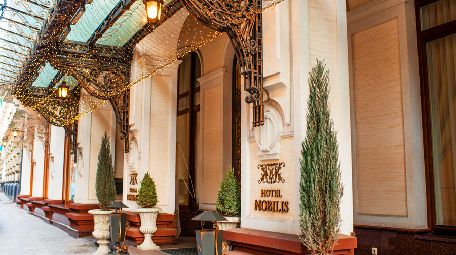 nobilis hotel entranceОтель Nobilis