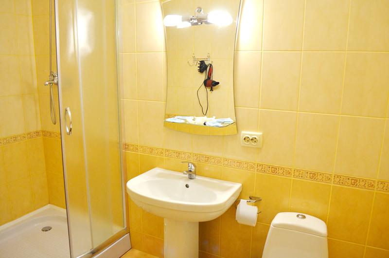 plazma hotel lviv standart double bathroomОтель Плазма